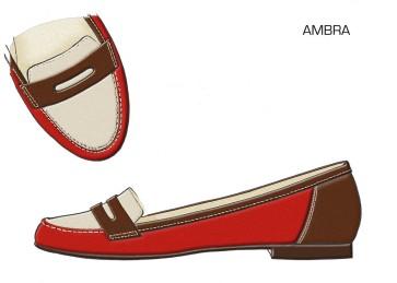 AMBRA - Coral & Tan
