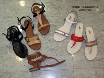 Leather Flat Sandals - Final showroom Samples