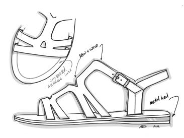 Metal Heel Flash - Sandal 2